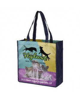 """Local"" Full Color Glossy Lamination Grocery Shopping Tote Bags (Overseas)"