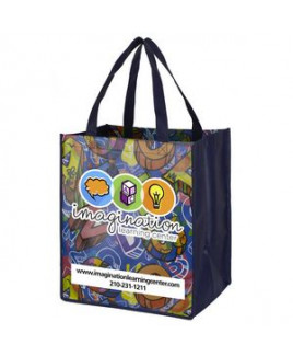 """""""Once-a-Week"""" Full Color Glossy Lamination Grocery Shopping Tote Bags (Overseas)"""