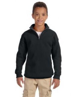 Jerzees Youth 8 oz. NuBlend® Quarter-Zip Cadet Collar Sweatshirt