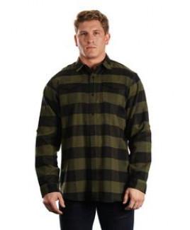 Burnside Men's Plaid Flannel Shirt