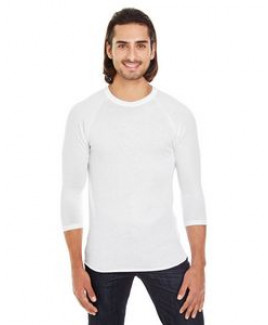 American Apparel Unisex Poly-Cotton 3/4-Sleeve Raglan T-Shirt