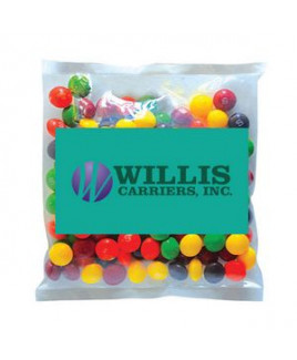Business Card Magnet w/Small Bag of Skittles