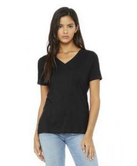 Bella+Canvas® Women's Relaxed Jersey Short Sleeve V-Neck Tee Shirt
