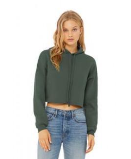 Bella+Canvas® Women's Sponge Fleece Cropped Fleece Hoodie