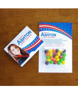 Mini Bag Skittles® on Bifold Card