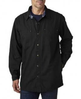 Backpacker Men's Canvas Shirt Jacket w/Flannel Lining