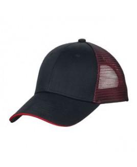 Port Authority® Double Mesh Snapback Sandwich Cap