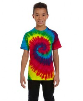 Tie-Dye Youth 5.4 Oz. 100 percent Cotton Tie-Dyed T-Shirt