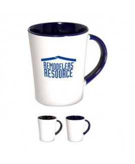 12 Oz. Two-Tone Curve Ceramic Mug