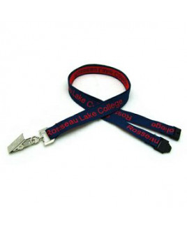 "5/8"" Detailed Coarse Weave Lanyard w/ Sew on Breakaway"