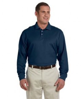 Devon & Jones® Men's Pima Piqué Long Sleeve Polo Shirt