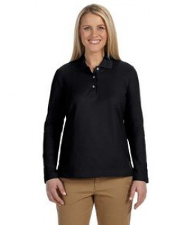 Devon & Jones® Ladies' Pima Piqué Long Sleeve Polo Shirt