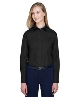 Devon & Jones® Ladies' Crown Woven Collection™ Solid Broadcloth Shirt