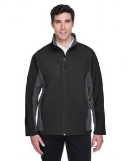 Devon and Jones Men's Soft Shell Colorblock Jacket