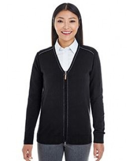 Devon & Jones® Ladies' Manchester Fully Fashioned Quarter-Zip Sweater