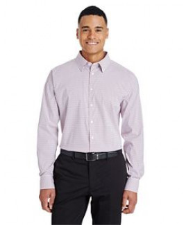 Devon & Jones® Men's CrownLux Performance™ Micro Windowpane Shirt
