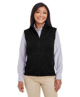Devon and Jones Ladies' Newbury Mélange Fleece Vest