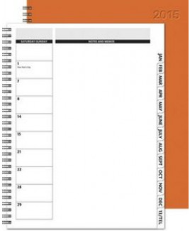 """The Director™ Monthly Planner - Leather Front / Chip Back (8.5""""x11"""")"""