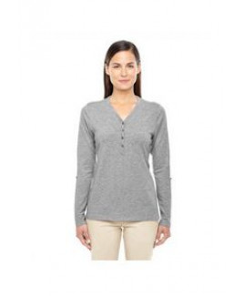Devon and Jones Ladies' Perfect Fit? Y-Placket Convertible Sleeve Knit Top
