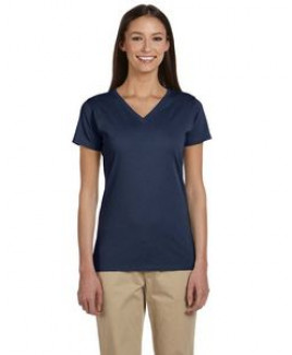 Econscious Ladies' 4.4 Oz 100 percent Organic Cotton Short-Sleeve V-Neck T-Shirt