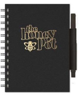 "EcoBooks - EcoNotes NotePad w/EcoPort & Pen (5""x7"")"