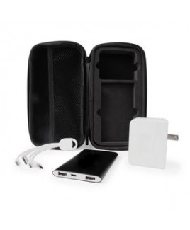 Charge Up Kit w/Phone Charging Accessories in Black Zippered Case