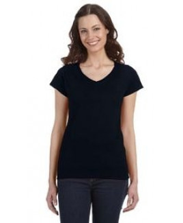 Gildan® SoftStyle® Ladies' 4.5 Oz. Junior Fit V-Neck T-Shirt