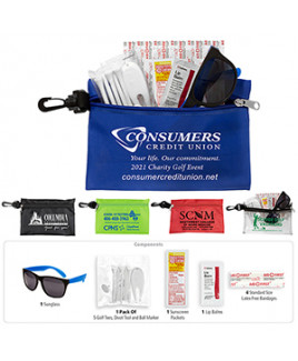 """Chip"" 14 Piece Golf Kit in Supersized Zipper Pouch"