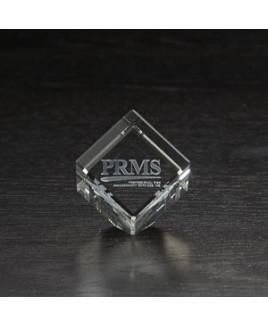 Small Jewel Cube 3D Crystal Award
