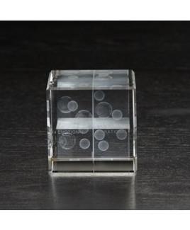 Medium Flat Cube 3D Crystal Award