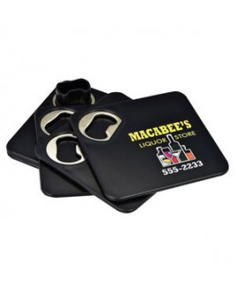 Bottle Opener Coaster Set