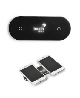 Light-Up-Your-Logo Duo Wireless Charging Pad