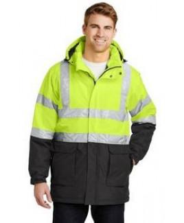 Port Authority® ANSI 107 Class 3 Safety Heavyweight Parka Coat