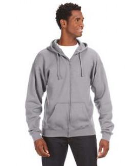 J AMERICA Adult Premium Full-Zip Fleece Hood