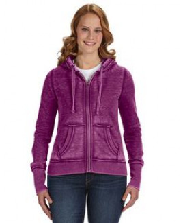 J. America Ladies' Zen Full-Zip Fleece Hoodie