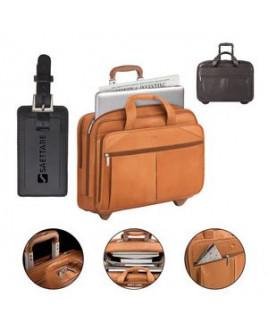 Solo Walker Leather Rolling Case