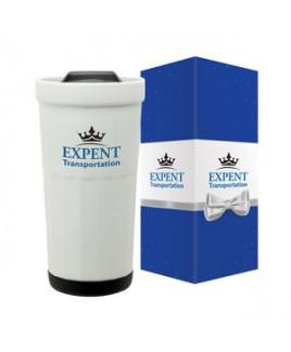 Latte 16 oz. Ceramic Travel Tumbler & Packaging