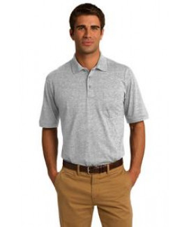 Port & Company® Men's Core Blend Jersey Knit Pocket Polo Shirt