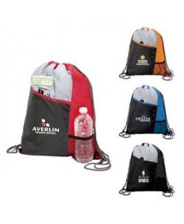 Drawstring Sport Bag w/Front Pocket