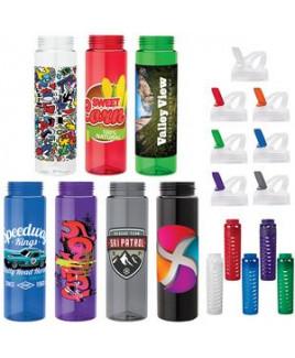 Newport 25 oz. PET Bottle with Flip Spout & Infuser