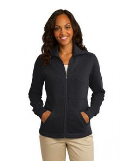 Port Authority® Ladies' Slub Fleece Full-Zip Jacket