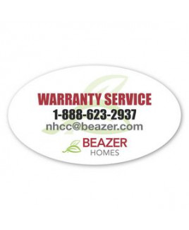 2 X 3.5 In Oval Removable Label