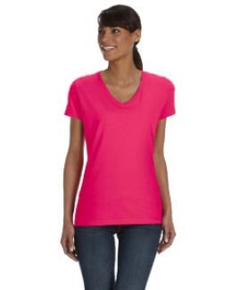 Fruit Of The Loom® Ladies's 5 Oz. 100 percent Heavy HD Cotton™ V-Neck T-Shirt