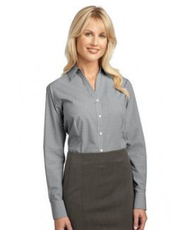 Port Authority® Ladies Plaid Pattern Easy Care Shirt