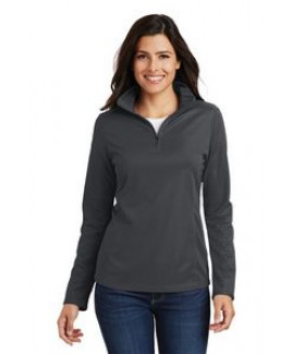 Ladies' Port Authority® Pinpoint Mesh Pullover Shirt w/ 1/2 Zip