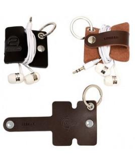 Leeman™ Genuine Leather Cord Organizer w/Snap