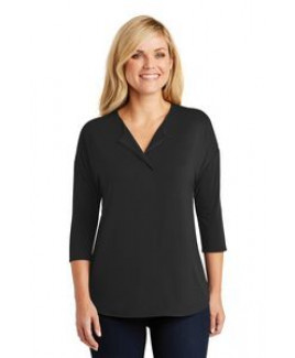Port Authority® Ladies' Concept 3/4 Sleeve Soft Split Neck Top