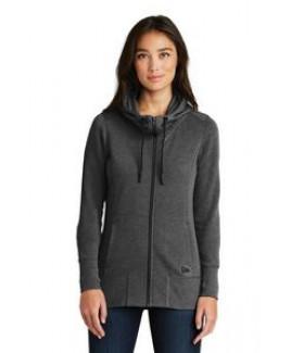 New Era® Ladies' Tri-Blend Fleece Full-Zip Hoodie