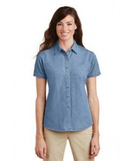 Port & Company® Ladies' Short Sleeve Value Denim Shirt