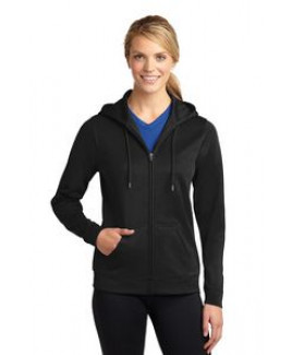 Ladies' Sport-Wick® Fleece Full-Zip Hooded Jacket